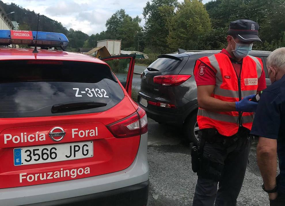 Un detenido en Bera por conducir bebido y huir de los agentes