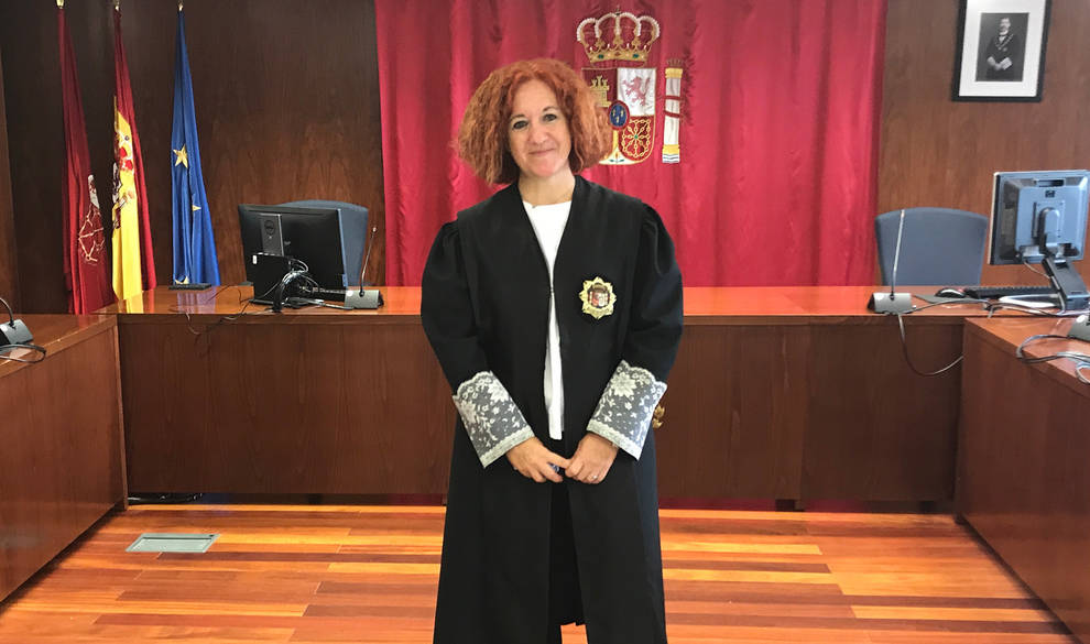 La magistrada Ana Llorca Blanco, en la Audiencia Provincial de Navarra.