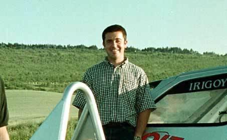 El piloto navarro Iñaki Irigoien, en una imagen de 2001.