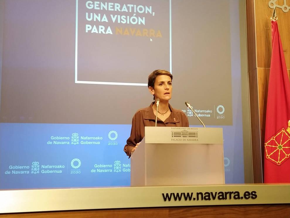 Chivite presenta los proyectos Next Generation, de más de 3.400 millones de euros
