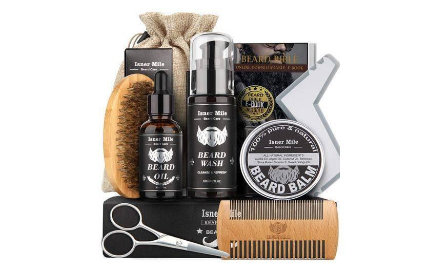 Imagen de un kit de cuidado para la barba