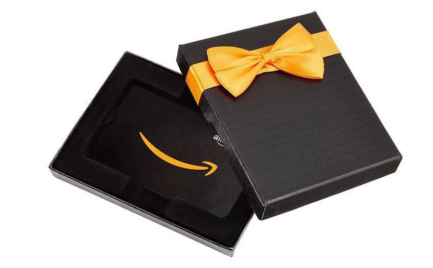 Imagen de una tarjeta regalo de Amazon