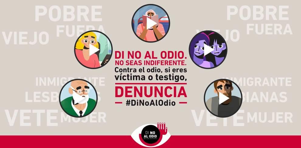La Policía Nacional presenta en Navarra la campaña Di no al odio