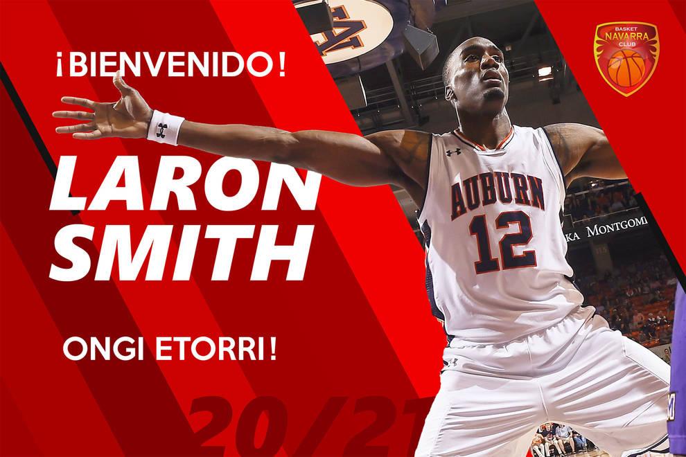 Anuncio del fichaje de Laron Smith ficha por el Basket Navarra.