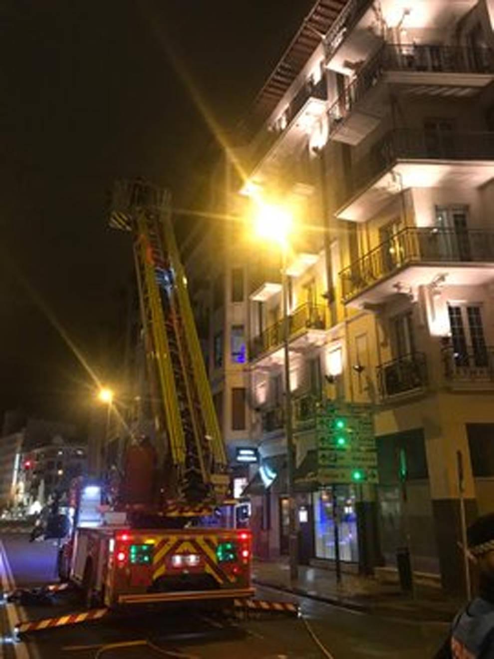 Arde un colchón en un hotel de Pamplona