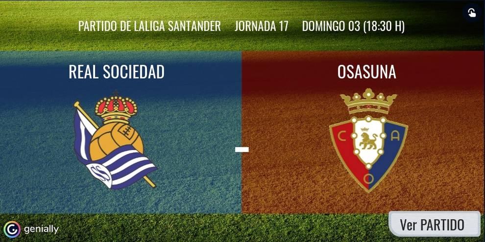 Real Sociedad-Osasuna en directo: sigue la narración minuto a minuto