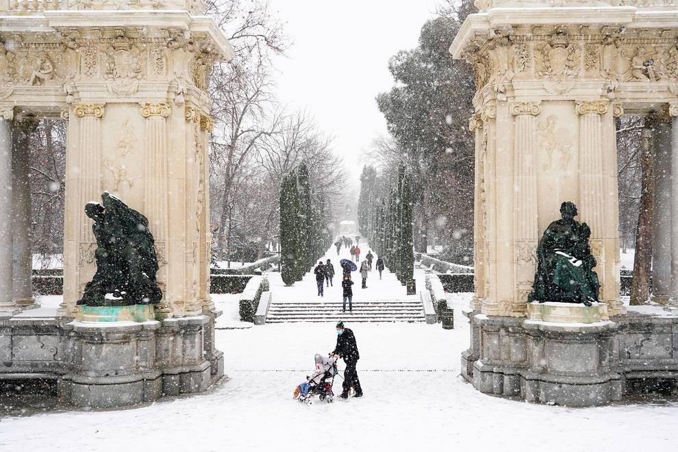 Fotos de la histórica nevada en Madrid   Diario de Navarra