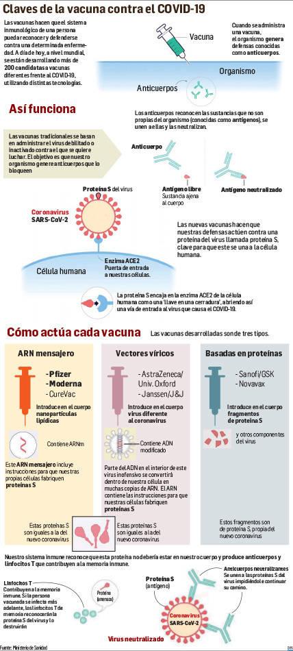 Las vacunas contra la covid, al detalle