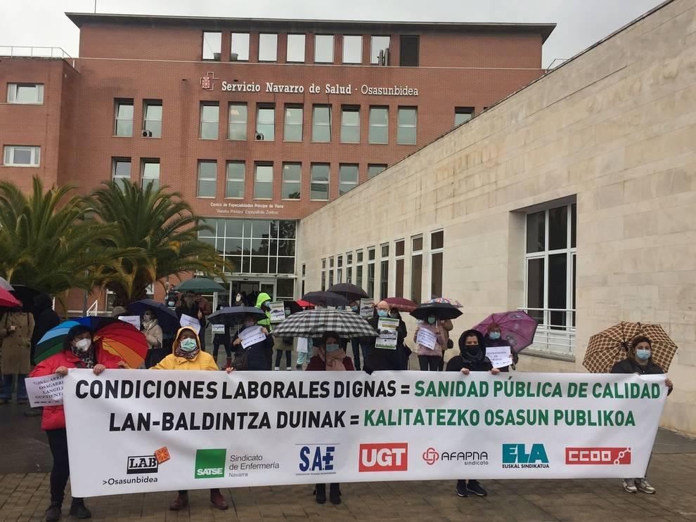 Los sindicatos del Servicio Navarro de Salud piden un cambio de modelo de gestión