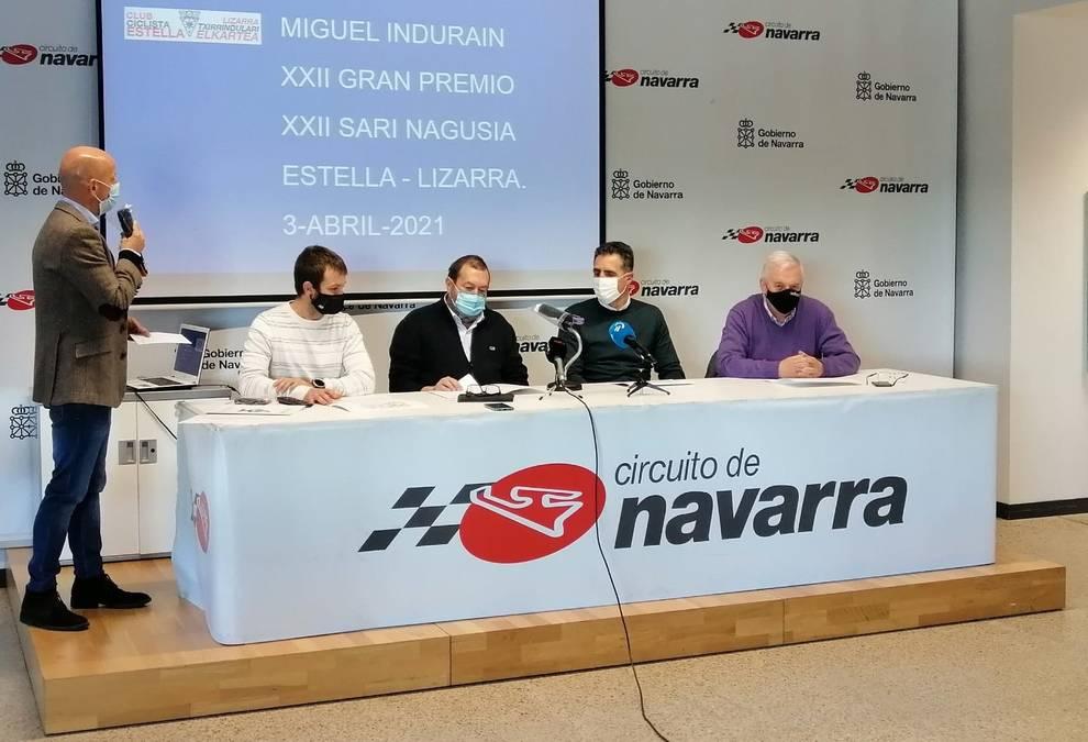 El Gran Premio Miguel Indurain tendrá un recorrido de 200 kilómetros