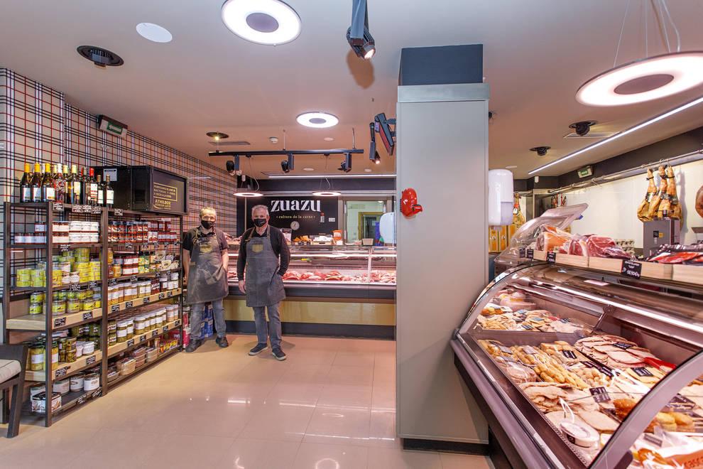 Imagen de una Carnicería Zuazu con el sistema Athilda de Luzco