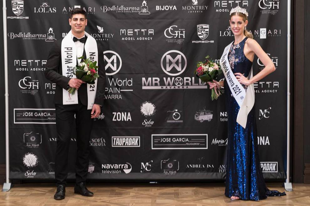 Laura Etayo y Sergio Martinez, elegidos Miss & Mr World Navarra 2021