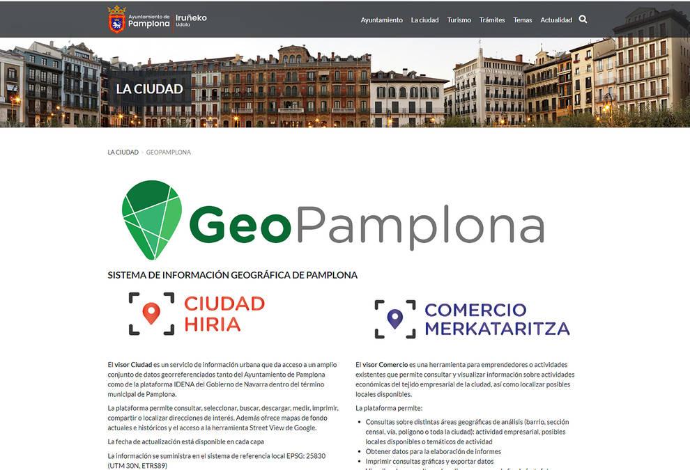 Novedades para mejorar la accesibilidad de GeoPamplona