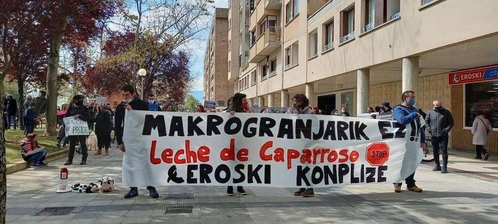 Una concentración en Pamplona exige la paralización de las macrogranjas