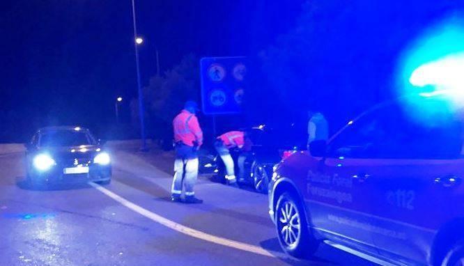 La Policía Foral realizó el test de drogas al conductor, quien dio positivo en tres sustancias
