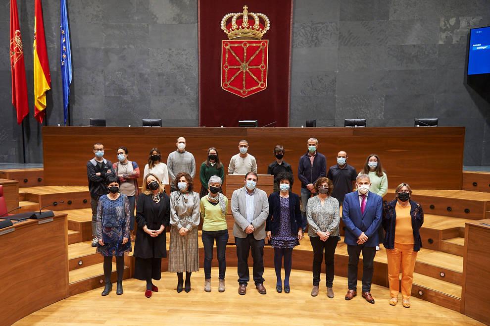 Alumnos de cinco centros educativos piden que Navarra sea tierra de acogida y solidaridad