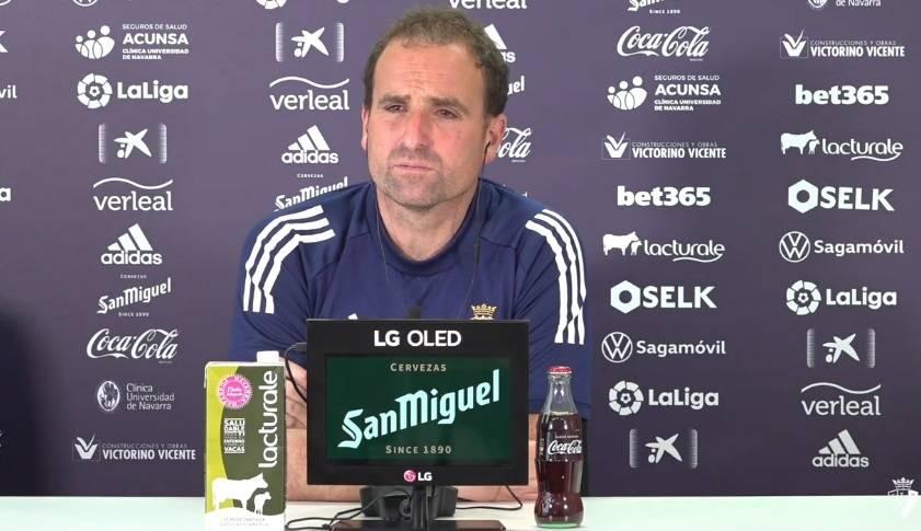Arrasate: Tenemos que intentar que los mejores jugadores navarros estén en Osasuna
