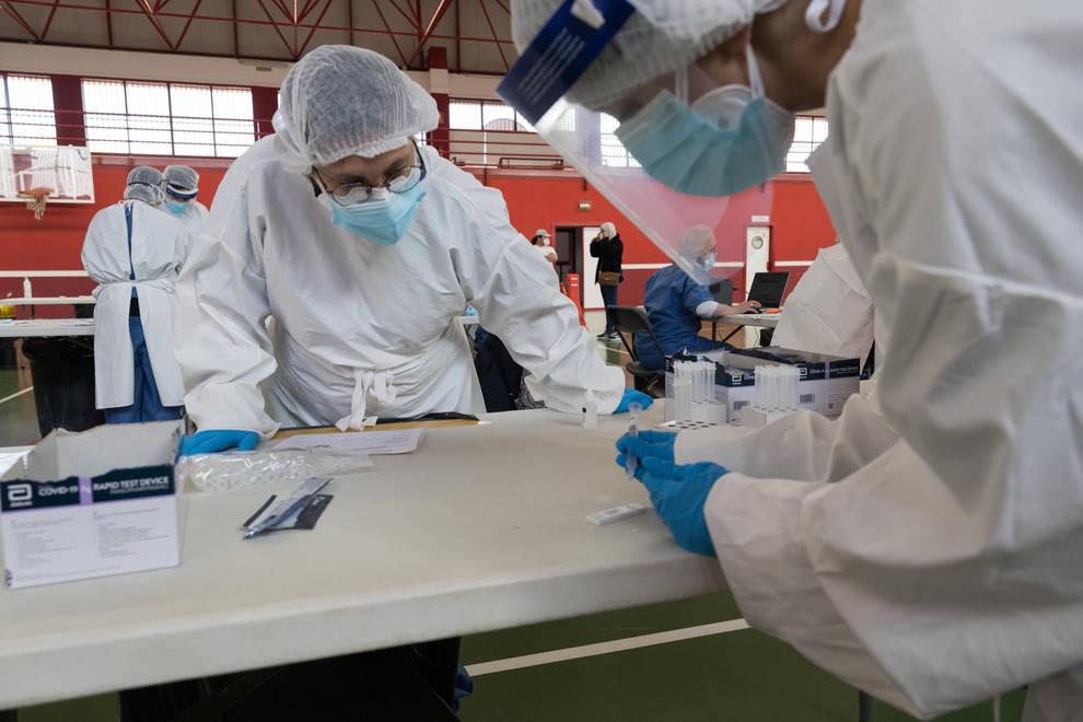 Navarra registra el menor número de contagios del último mes y medio