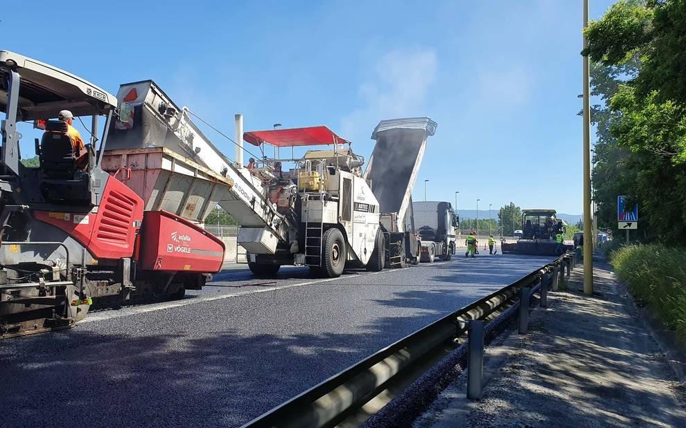Cinco millones de inversión para reparar el firme de diez carreteras navarras