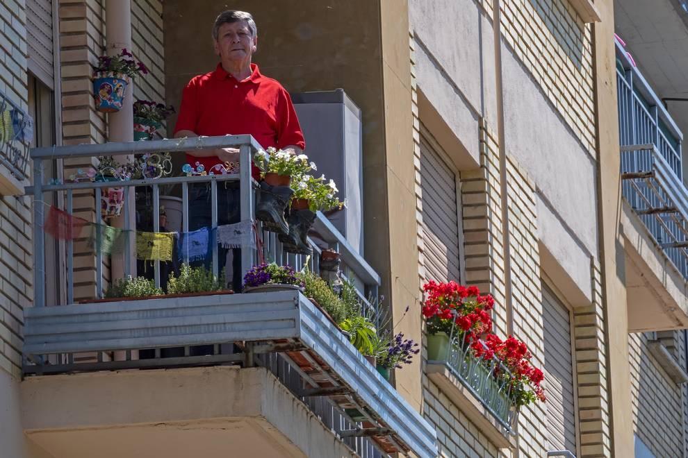 Jesús Arana, en el balcón del premio popular.