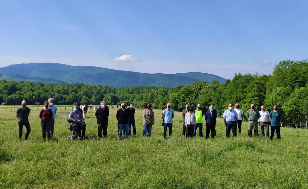 Presentación del proyecto entre Intia y Aspace en Roncesvalles.
