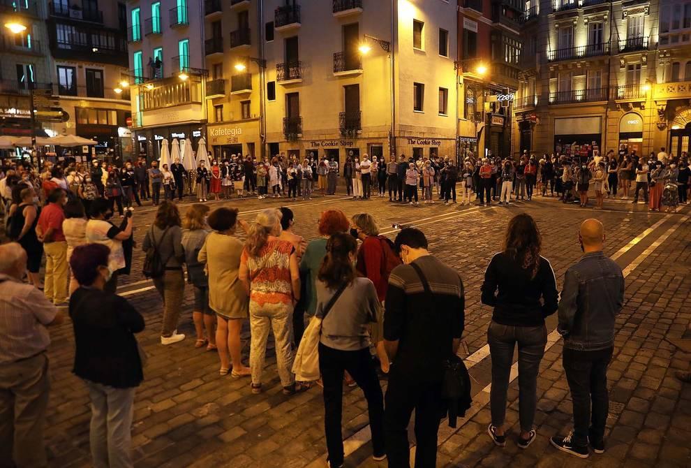 Concentración en Pamplona contra la violencia machista