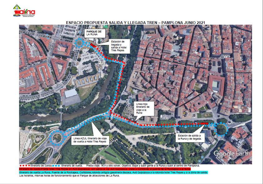 Un tren turístico conectará el centro de Pamplona con el recinto ferial del Runa