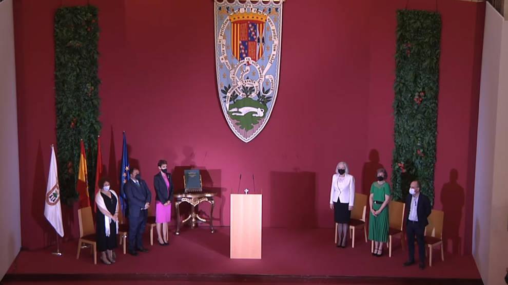 Entrega del Premio Príncipe de Viana de la Cultura a Teresa Catalán.