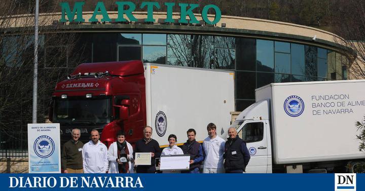 Dnplus solidaridad la plantilla de martiko dona 10 toneladas de productos al banco de - Banco de alimentos de navarra ...