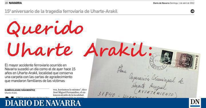Cartas De Familiares En El Aniversario Del Accidente Uharte Arakil