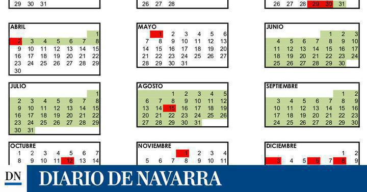 Calendario Laboral Navarra.Calendario Laboral En Navarra Para 2018 Noticias De Dn Management