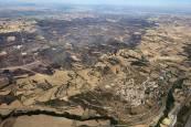 Imágenes aéreas del incendio de Tafalla