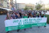 Manifestación en Pamplona contra la reválida
