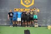 Sesión de halterofilia: campeones navarros