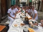 Almuerzos antes del Chupinazo de San Fermín