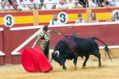 Imágenes de la primera corrida de Fiestas de Tudela 2017