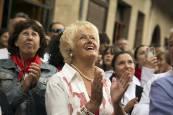 Procesión en honor a Santiago en Puente la Reina