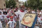 Tradicional bombada en fiestas de Estella 2017