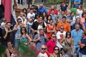 Chupinazo de las fiestas en Lakuntza