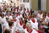 Procesión de la Virgen del Rosario en Ablitas