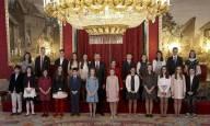 El Rey impone el Collar de la Insigne Orden del Toisón de Oro a la Princesa de Asturias