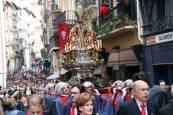 Procesión de San Fermín de regreso a San Lorenzo