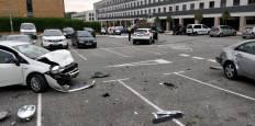 Aparatoso accidente en el paseo Ibaialde de Mutilva