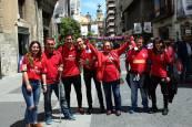 Aficionados rojillos en Valladolid