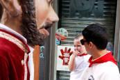 Fotos de los gigantes y cabezudos de Pamplona, 7 de julio de San Fermín 2018