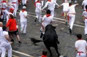 Fotos del primer encierro de San Fermín 2018