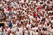 Büscate en el tendido de la corrida del día 7 de julio