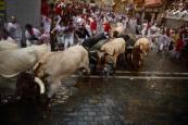 Fotos del segundo encierro de San Fermín 2018.REUTERS