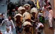 Fotos del segundo encierro de San Fermín 2018.EFE