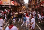 Fotos del segundo encierro de San Fermín 2018.D.G.